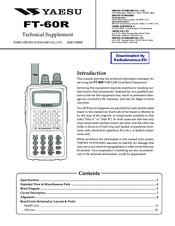 Yaesu fm transceiver ft-60 manual download