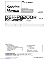 pioneer deh p8600mp wiring diagram pioneer image pioneer deh p8250 manuals on pioneer deh p8600mp wiring diagram