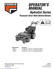 Ferris HydroCut 5900604 Manuals on