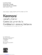 Kenmore 417-7172 Series Use & Care Manual