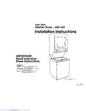 whirlpool thin twin washer dryer manual