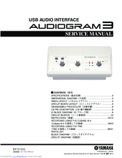 Yamaha Audiogram 3 Service Manual