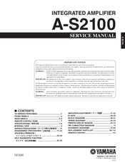 Yamaha A-S2100 Service Manual