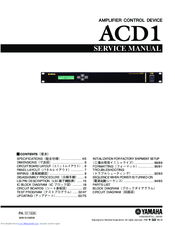 Yamaha ACD1 Service Manual