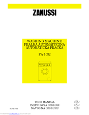 Zanussi FA832 User Manual