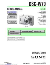 sony cyber shot dsc w70 manuals rh manualslib com sony cyber-shot dsc-w70 manual sony cyber-shot dsc-w70 digital camera manual
