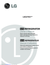 LG LSC27931ST Owner's Manual
