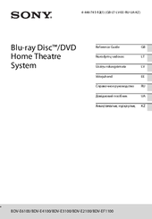 Sony BDV-E3100 Reference Manual