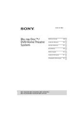 Sony BDV-N9200W Reference Manual