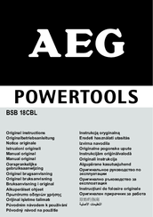 AEG BS 12C2 Original Instructions Manual
