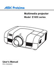 ask proxima e1655 series manuals rh manualslib com Ask Proxima A1200 Manual Ask Proxima C450 Projector