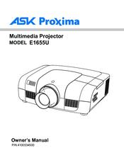 ask proxima e1655u manuals rh manualslib com Ask Proxima A1200 Manual Ask Proxima M1