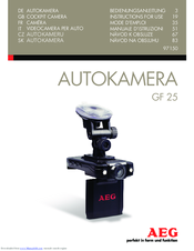 AEG GF 25 Instructions For Use Manual