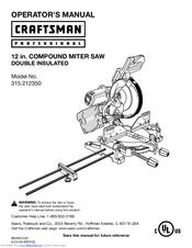 craftsman model 315 miter saw manual