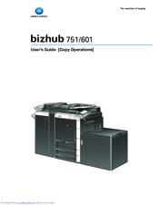 konica minolta bizhub 751 manuals rh manualslib com Konica Minolta Bizhub C452 Konica Minolta Bizhub 751 Manual