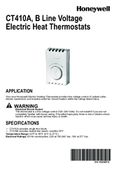 honeywell ct410a installation manual pdf downloadHoneywell Ct410a Line Electric Heat Thermostat Control #10