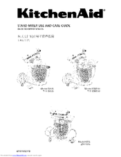 mixer use and care manual 22 pages brand kitchenaid category mixer