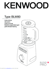 Kenwood Blend-X PRO BLM80 Instruction Manual