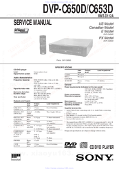 Sony slv-d360p operating instructions (for slv-d360p dvd player.