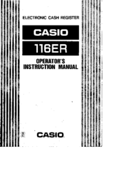 Casio 116ER Operator's Instruction Manual