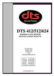 Dts 512 manuals for Gate motor installation prices