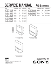 Sony KP-EF48ME2 Service Manual