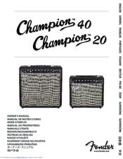 uitgebreide selectie beste authentiek gedetailleerde foto's Fender Champion 20 Manuals