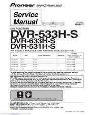 pioneer dvr 533h s manuals rh manualslib com Annke DVR User Manuals pioneer dvd recorder dvr-533h manual