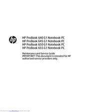 hp 650 g1 manuals rh manualslib com hp 1030 g1 service manual contax g1 service manual