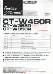 Pioneer CT-W350R Service Manual