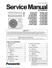 Panasonic CU-NE9NKE Manuals