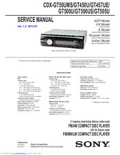 sony cdx gt500us manuals rh manualslib com sony xplod radio user manual sony xplod 50wx4 user manual