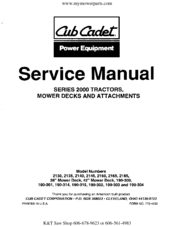 Cub Cadet 2135 Manuals on