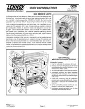lennox g26 series manuals rh manualslib com lennox user manual for x4146 lennox installation manual