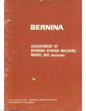 BERNINA 900 ELECTRONIC SERVICE MANUAL Pdf Download