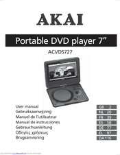 akai acvds727 manuals rh manualslib com akai dvd player a51002 manual Akai Portable DVD Player 7