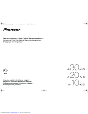 Pioneer A-10-S Operating Instructions Manual