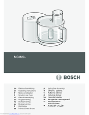 Bosch MCM20 Series Operating Instructions Manual