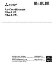 Mitsubishi Electric Mr.SLIM PKA-A30FA Manuals on