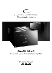 electrocompaniet aw600 nemo manuals rh manualslib com Operators Manual citroen nemo multispace owners manual