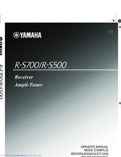 Yamaha R-S700 Owner's Manual