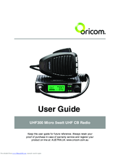 oricom uhf 300 user manual