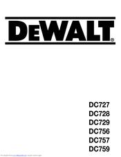 dewalt dc759 manuals rh manualslib com