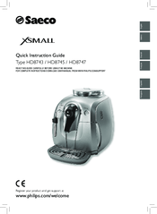 Saeco Coffee Maker Owner S Manual : Saeco Xsmall HD8745 Manuals