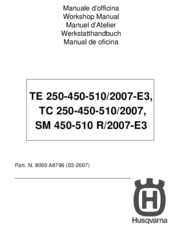 husqvarna te tc 250 450 510 sm 450 510 r service repair manual pdf
