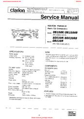 clarion bd239r manuals rh manualslib com clarion bd329rg car manual clarion bd329rg installation manual