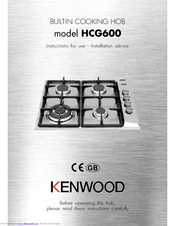 Kenwood HCG700 Instructions For Use Manual