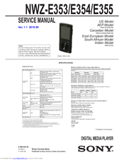 sony walkman nwz e354 manuals rh manualslib com Sony Nwz E353 Manual sony walkman mp3 player manual nwz-e354