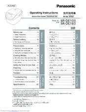 panasonic electric rice cooker manual