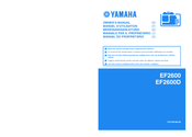 Yamaha EF2600 Owner's Manual